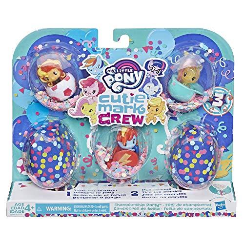 My little Pony - Cutie Mark Crew Konfetti Überraschungen - Set mit 5 Cutie Mark Crew Thema Sport Party - 5 cm