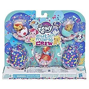 My Little Pony - Figuras de Cutie Mark Crew Confettis Surprises - Caja de 5 Cutie Mark Crew - temática del Deporte - 5 cm