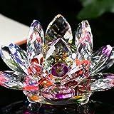 Xshuai Wohnaccessoires Lotus Kristall Glas Figur Briefbeschwerer Ornament Feng Shui Dekor Kollektion Mode neu (mehrfarbig) (D)