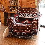AFAHXX Dekoration Decke zu werfen Sofabezug für Sofa,Reversible Knitting Indischen Sofa Couch Stuhl möbel Quaste Sofa Überwürfe-A 160x220cm(63x87inch)