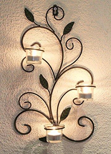 DanDiBo Support bougie chauffe-plat mural 131004 Porte bougie chauffe-plat en métal 45cm Chandelier mural Chandelier