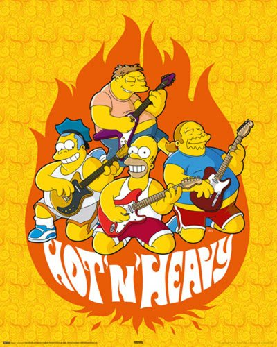 Empire Merchandising 523242 The Simpsons - Hot and Heavy - Comic Film Movie Kino Mini-Poster - Druck - Grösse 40 x 50 cm