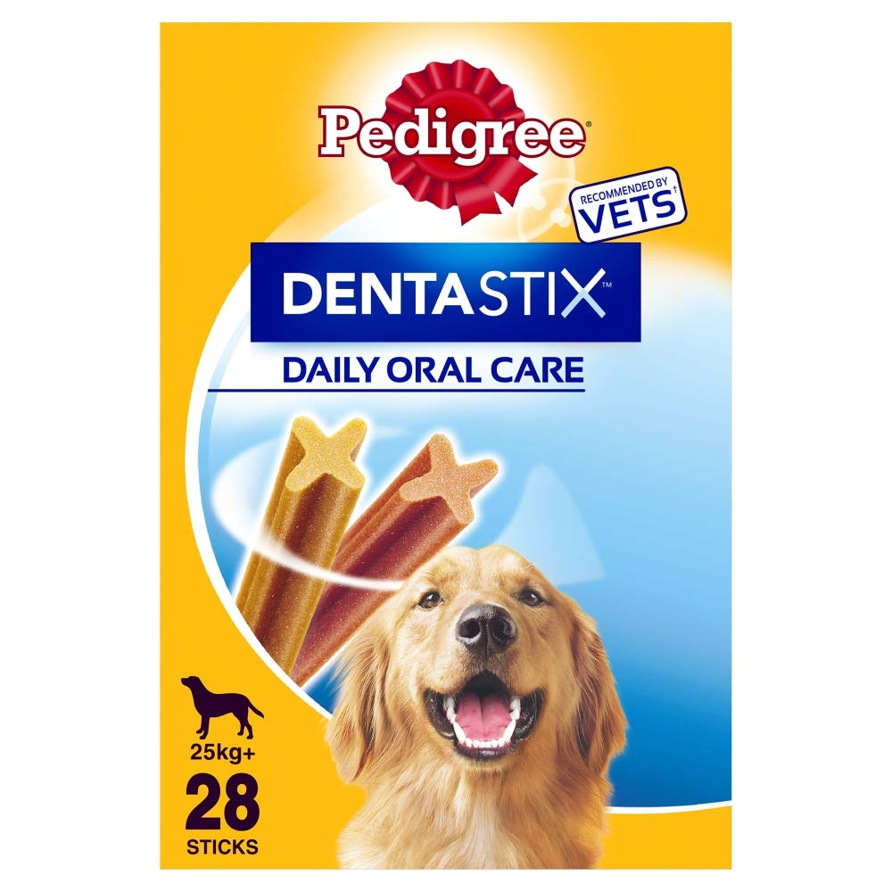 Pedigree Dentastix Daily Dental Care Chews for Dogs 25kg+, 28 Sticks