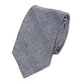 Cravate Homme en Soie - Coupe Moderne - Choisissez Votre Couleur (Prince de Galles Gris)