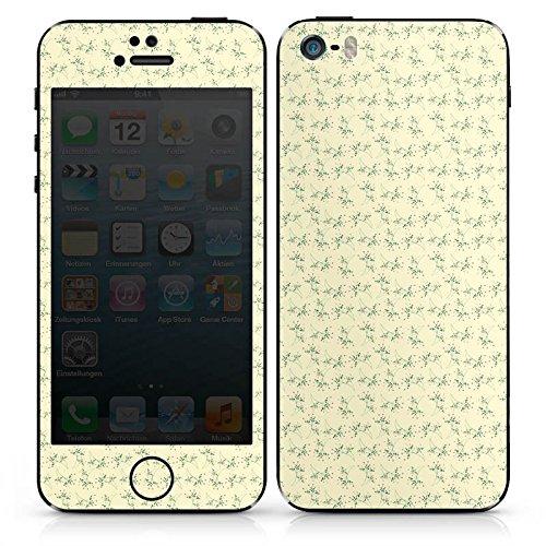 Apple iPhone SE Case Skin Sticker aus Vinyl-Folie Aufkleber Blumen Muster Vintage DesignSkins® glänzend
