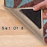 Lot de 8 grips antidérapants pour coins de tapis Haute qualité Réutilisables et lavables