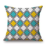 Slimmingpiggy Geometric Throw Pillow Covers 20 X 20 Inches / 50 By 50 Cm Gift Or Decor For Bar