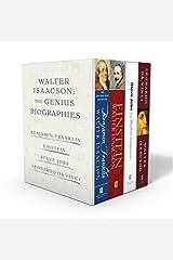 Walter Isaacson: The Genius Biographies: Benjamin Franklin, Einstein, Steve Jobs, and Leonardo da Vinci Taschenbuch