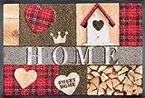 Wash&Dry 079767 Cottage Home Fußmatte, Acryl, 40 x 60 x 0,7 cm, Bunt