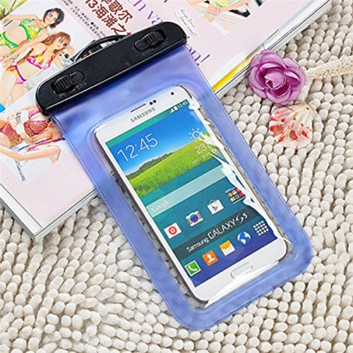 PANGUN Handy-Regenhülle Universal Unter Wasserbeutel Transparente Touchscreen Handy Handy Tasche-Blau-S