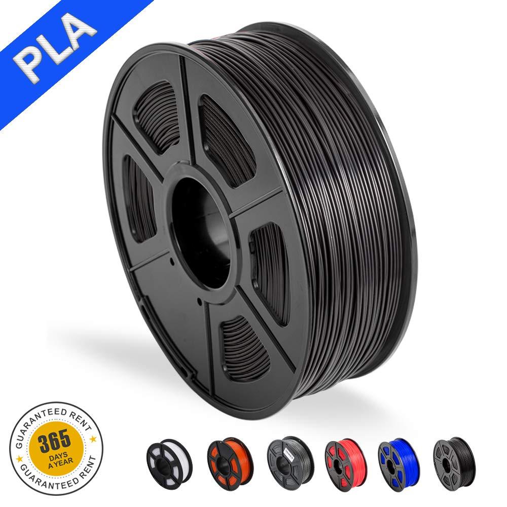 SUNLU 3D Printer Filament PLA, 1.75mm PLA Filament, 3D Printing Filament Low Odor, Dimensional Accuracy +/- 0.02 mm, 2.2 LBS (1KG) Spool