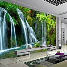 XLi-You 3D Alta Montagna Acqua Fluente Terzo Paesaggio La Pittura Di Paesaggio Tv Divano Wall Wallpaper 350cmX270cm