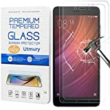 Wireless - Utmury Tempered Glass Screen Protector for Xiaomi Redmi Note 4 [9H Hardness] Display Film Protection (Pack of 2)