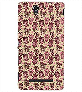 PrintDhaba Pattern D-5463 Back Case Cover for SONY XPERIA C3 (Multi-Coloured)