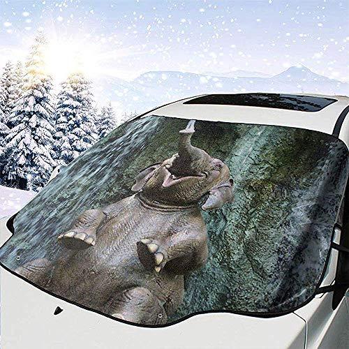 DEVP windshield sunshades Plegable Elefante Divertido Parabrisas Cubierta de la sombrilla Ventana Bloques de la Sombra del Sol Rayos UV Protector de la Visera