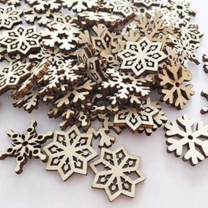 ZOYLINK-100PCS-Christmas-Wood-Slice-Natural-Snowflake-Wood-Craft-for-DIY-Ornaments