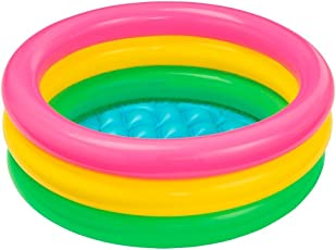 Motoway Inflatable Baby Pool, Multi Color (2-feet)