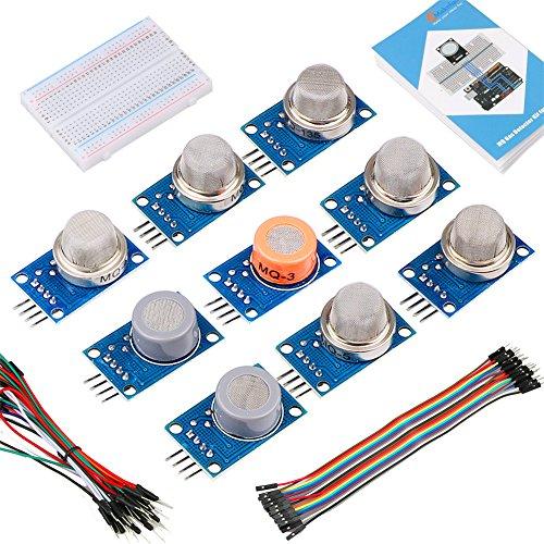 Emakefun Gas Sensormodul Bausatz mit Anleitung für Arduino UNO R3, für Arduino Gas Starterkit Sensor Kit (Propan-gas-sensor)