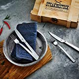 Zwilling 07150-359-0 Steak Besteckset in rustikaler Holzbox, Edelstahl, 12-teilig - 5