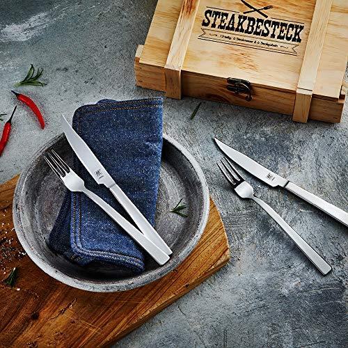 612HpKvk9 L - Zwilling 07150-359-0 Steak Besteckset in rustikaler Holzbox, Edelstahl, 12-teilig