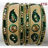 Tyagi Craft Bollywood Fancy Jewellery Crystal Green Bangles Bracelets Asian Indian Wedding Ornaments