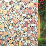 Lemon Cloud nicht Klebstoff Fenster Film Statische Fensterfolie selbst gebeizt Gallet für Home Dekoration Hitze Kontrolle und Sichtschutz, gallet, 45cm x 200xm
