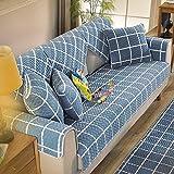 QY&LA Winter plüsch sofakissen, Gesteppter Anti-Schleudern Sofabezug Sofa Decken, Geeignet für Sofas,Tatami matten,Erker matten,Fußboden-matten,Usw.-Blau 70x90cm(28x35inch)