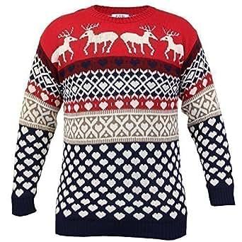herren weihnachtspullover strickpulli mit weihnachtlichen muster neu xl rot manreinz. Black Bedroom Furniture Sets. Home Design Ideas