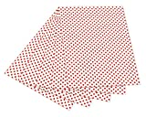 folia 5920 Fotokarton mit Punkten (50 x 70 cm, 10 Bogen) rot/weiß