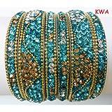 Tyagi Craft Indian Bollywood Bridal Fancy Crystal Asian Jewellery Bangles Kada Bracelets