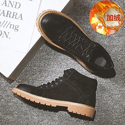HL-PYL-Martin Botas de hombres altos zapatos botas botas robot con zapatos de algodón bajo,39,negro y Cashmere