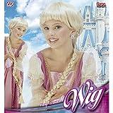 Amakando Lange Zopfperücke Kinder Prinzessin Kinderperücke blond Prinzessinnen Langhaarperücke Rapunzel Perücke Karnevalskostüme Zubehör Mädchen Zopf Karnevalsperücke Disney Märchen Faschingsperücke
