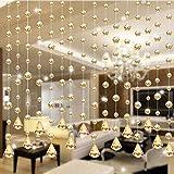 1 STÜCKE Transparentem Glas Kristall Perlen Vorhang Fenster Tür Vorhang Passage Hochzeit Hintergrund Glasperlen Tür String Quaste Vorhang Hochzeit/Room Decor 【netter Vorhang】