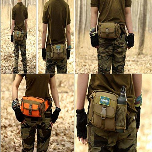 Generic Uomo Militare Tattico Marsupi da Escursionismo Borsa A Tracolla Pacchetto in Vita Sacchette - Nero Camo 4