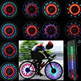 Sashi Bicycle Accessories DIY 4 Colors 32 Led Programmable Decorative Flashing Tire Wheel Spoke Bicycle Light With Sensors