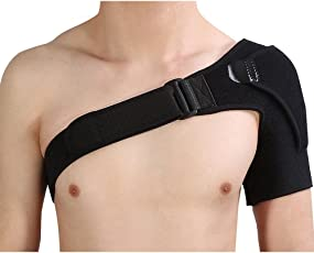 CGT Unisex Shoulder Brace with Pressure Pad for Hot Cold Therapy Breathable Shoulder Support for Rotator Cuff, Dislocated AC Joint, Shoulder Pain, Injury Prevention and Recovery