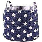 Minene Large Storage Basket with Blue...