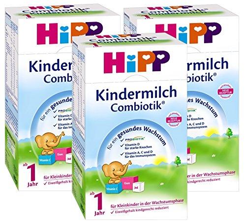 Hipp Kindermilch Bio Combiotik - ab dem 1. Jahr, 3er Pack (3 x 600g)