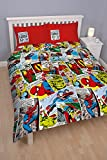 Character World Disney Parure de Couette réversible Motif Marvel Comics Multicolore 91 cm Lit Double