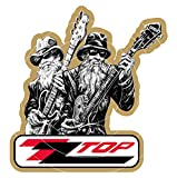 60MM ,ZZTOP STICKER DECAL MOTORCYCLE SCOOTER use on Motorbikes, Scooters, Helmets, Leg Shields.