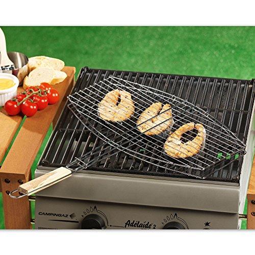 2 X Praktischer Xl Grillkorb Grillrost Grillgutbehlter 45 X 25 Cm Aus Metall Zum Grillen