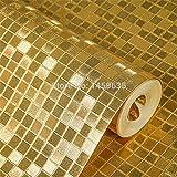 ZCHENG Gold Silberfolie Tapete Wand Papier Mosaik Deckenleuchten KTV Damen Bekleidungsgeschäft Pool Hintergrundbild, A