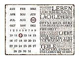 INTERLUXE WANDKALENDER Blechschild Kalender DIES IST DEIN LEBEN Shabby Vintage Geschenk Dekoration Haus Wohnung