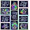 German Trendseller® - 24 x cartes à gratter┃con bâtonnets┃los colores del arco iris ┃fiestas infantiles┃ idea de regalo┃piñata┃cumpleaños de niños