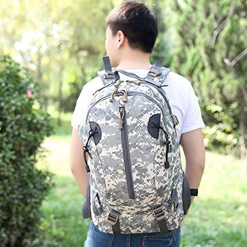 40L wasserdicht Tactical Military MOLLE Assault Rucksack groß Pack Rucksack für Camping Wandern Angeln Jagd Reisen und EDC Tagesrucksack ACU digital