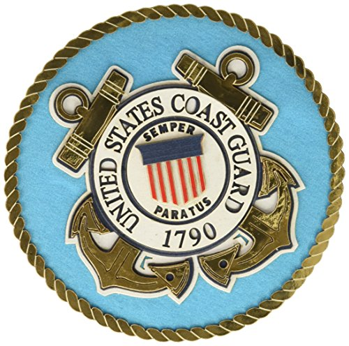 UNIFORMED US Coast Guard Emblem, gestanzt (Emblem Guard Coast)