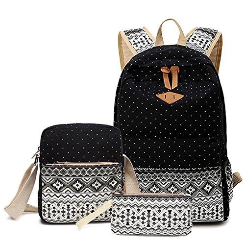 3er-Pack Ethnische Mode-Taschen Frauen Rucksack Schüler Schultasche #2