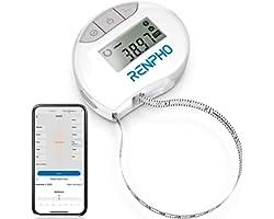 RENPHO Mètre Ruban Rétractable et Connecté avec Application Bluetooth pour Mesure du Corps, Perte de Poids, Gain de Muscle, R