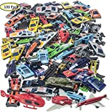 Enlarge toy image: Prextex 100 Pc Die Cast Toy Cars Party Favors or Cake Toppers Cars Toys For Kids