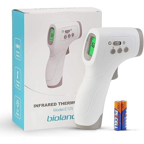 Termometro infrarossi, Termometri Frontale Infrarossi Senza Contatto, Termometri Medico con Display a LED per Febbre per Neonati, Bambini, Adulti